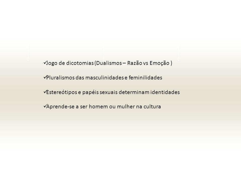 Jogo de dicotomias (Dualismos – Razão vs Emoção )