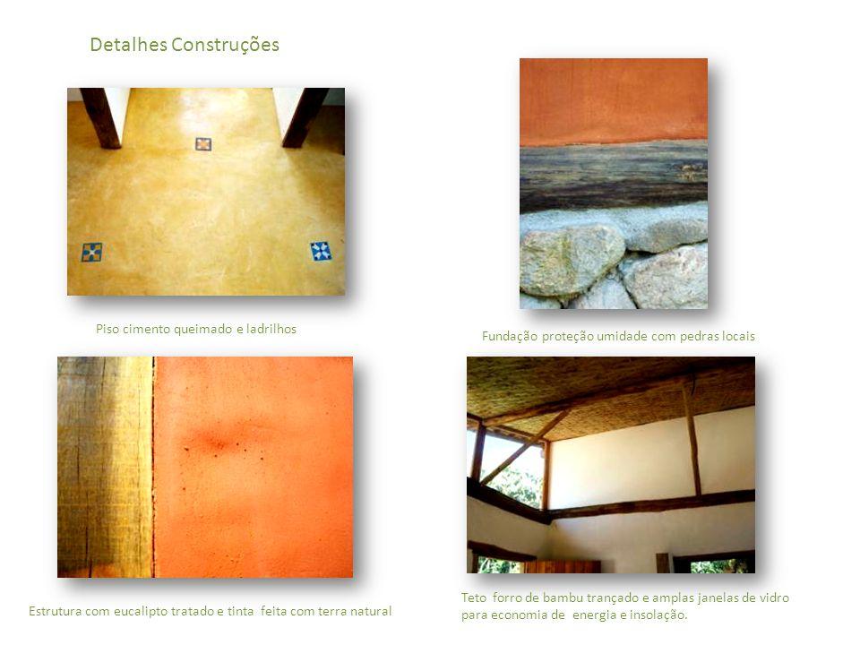 Detalhes Construções Piso cimento queimado e ladrilhos