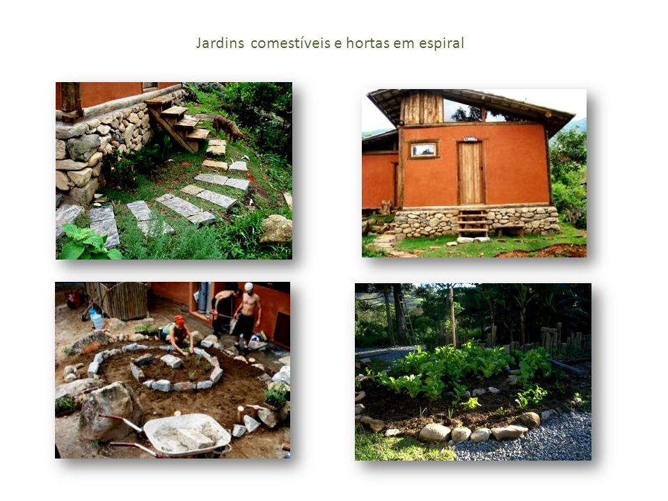 Jardins comestíveis e hortas em espiral