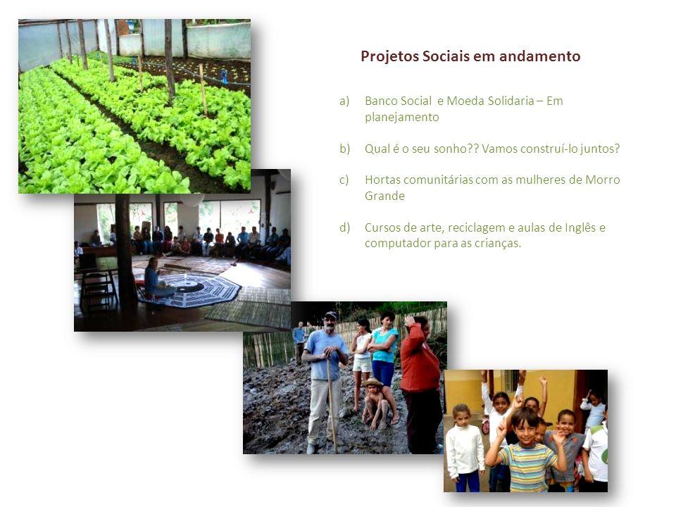 Projetos Sociais em andamento