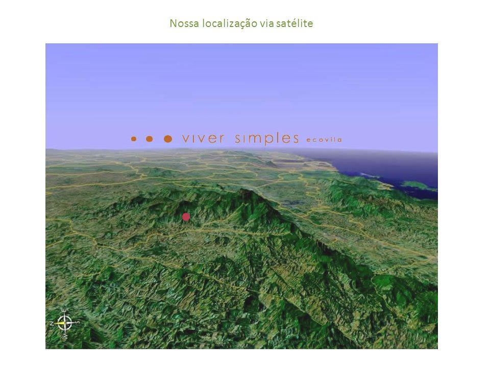 Nossa localização via satélite