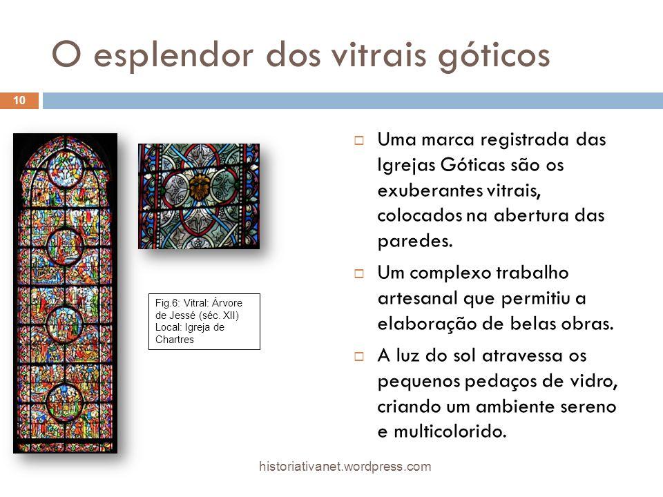 O esplendor dos vitrais góticos