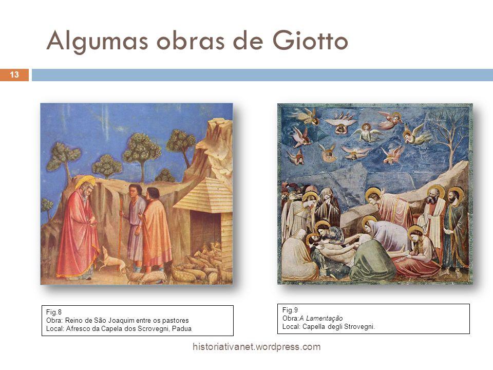 Algumas obras de Giotto