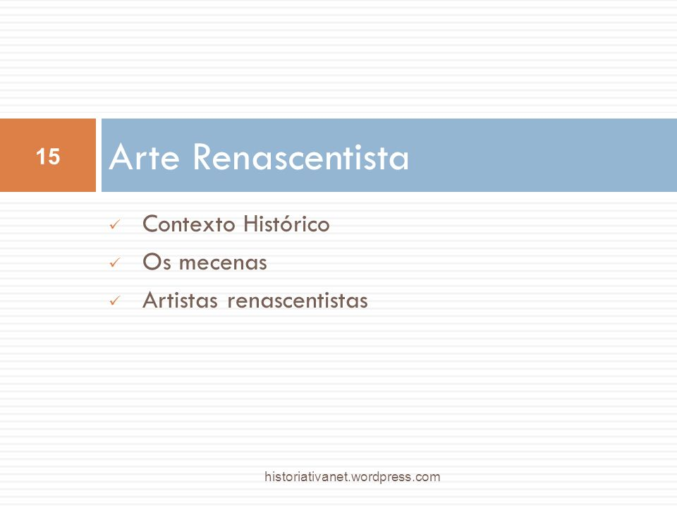 Arte Renascentista Contexto Histórico Os mecenas