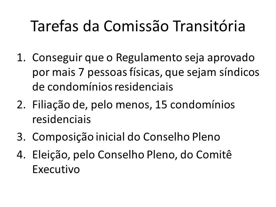 Tarefas da Comissão Transitória
