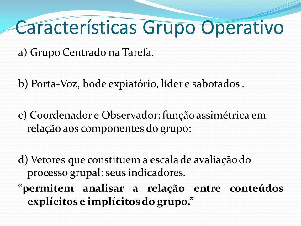 Características Grupo Operativo