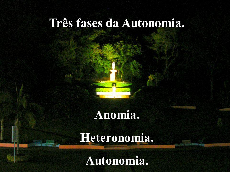 Três fases da Autonomia.