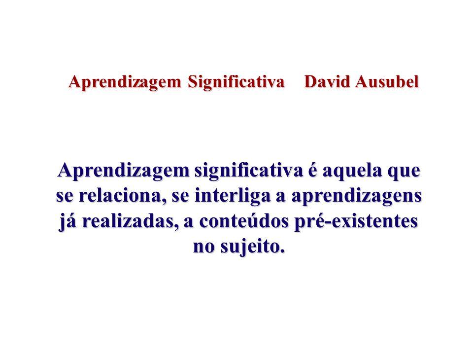 Aprendizagem Significativa David Ausubel