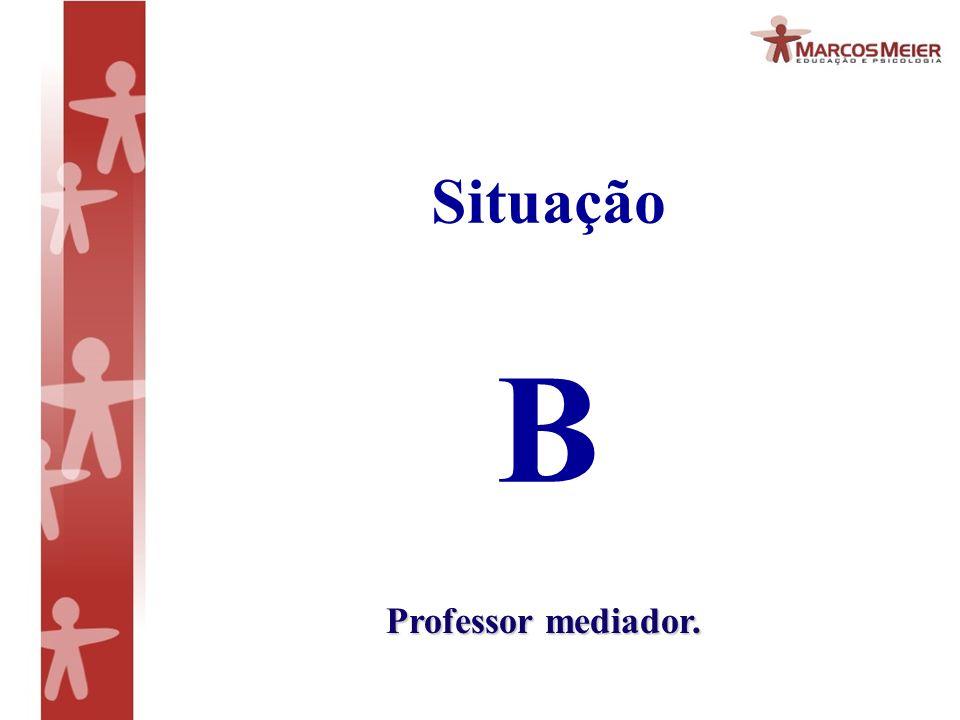 Situação B Professor mediador.