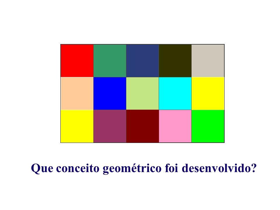 Que conceito geométrico foi desenvolvido