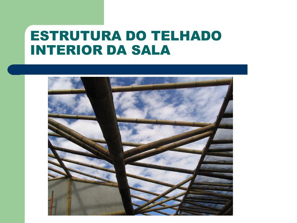 ESTRUTURA DO TELHADO INTERIOR DA SALA
