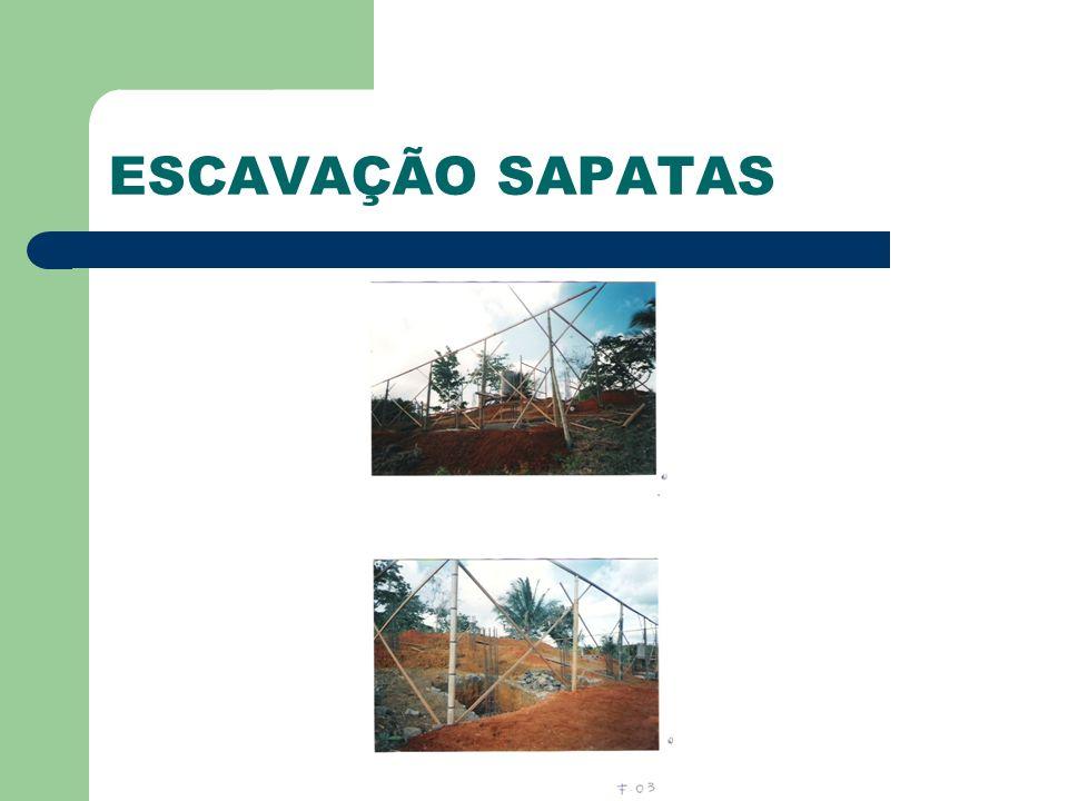 ESCAVAÇÃO SAPATAS