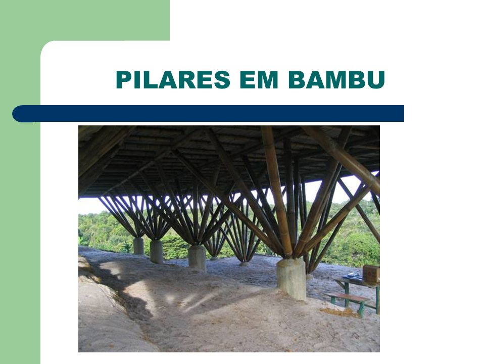 PILARES EM BAMBU