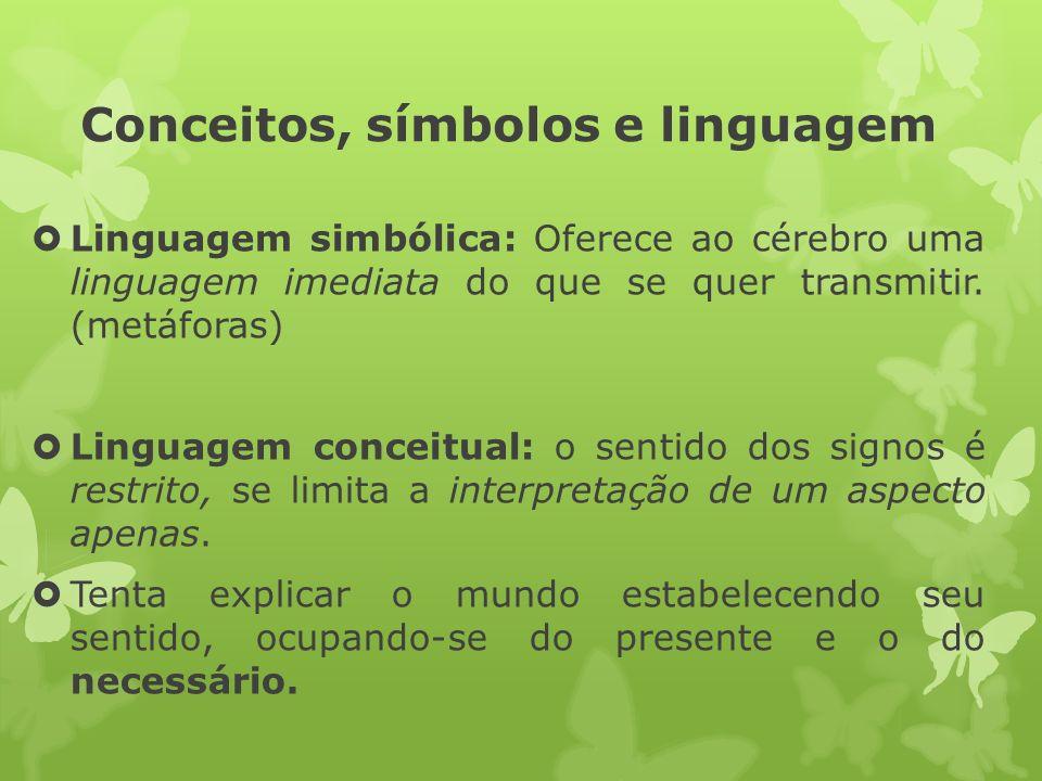 Conceitos, símbolos e linguagem