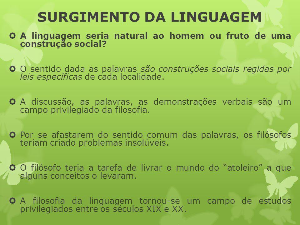 SURGIMENTO DA LINGUAGEM