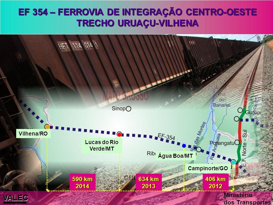 EF 354 – FERROVIA DE INTEGRAÇÃO CENTRO-OESTE TRECHO URUAÇU-VILHENA