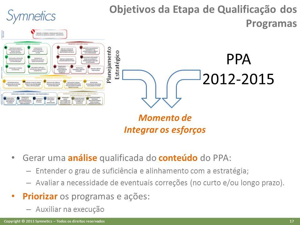 Objetivos da Etapa de Qualificação dos Programas