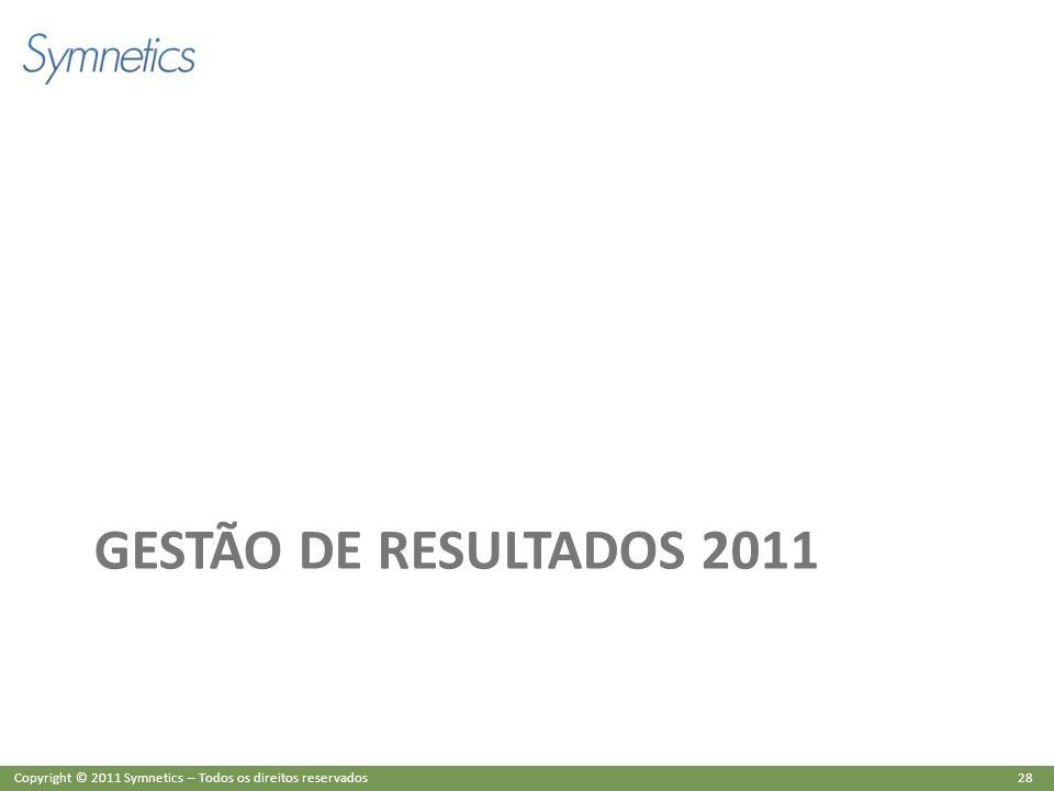 GESTÃO DE RESULTADOS 2011