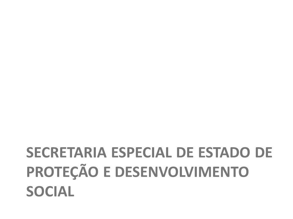 SECRETARIA ESPECIAL DE ESTADO DE PROTEÇÃO E DESENVOLVIMENTO SOCIAL