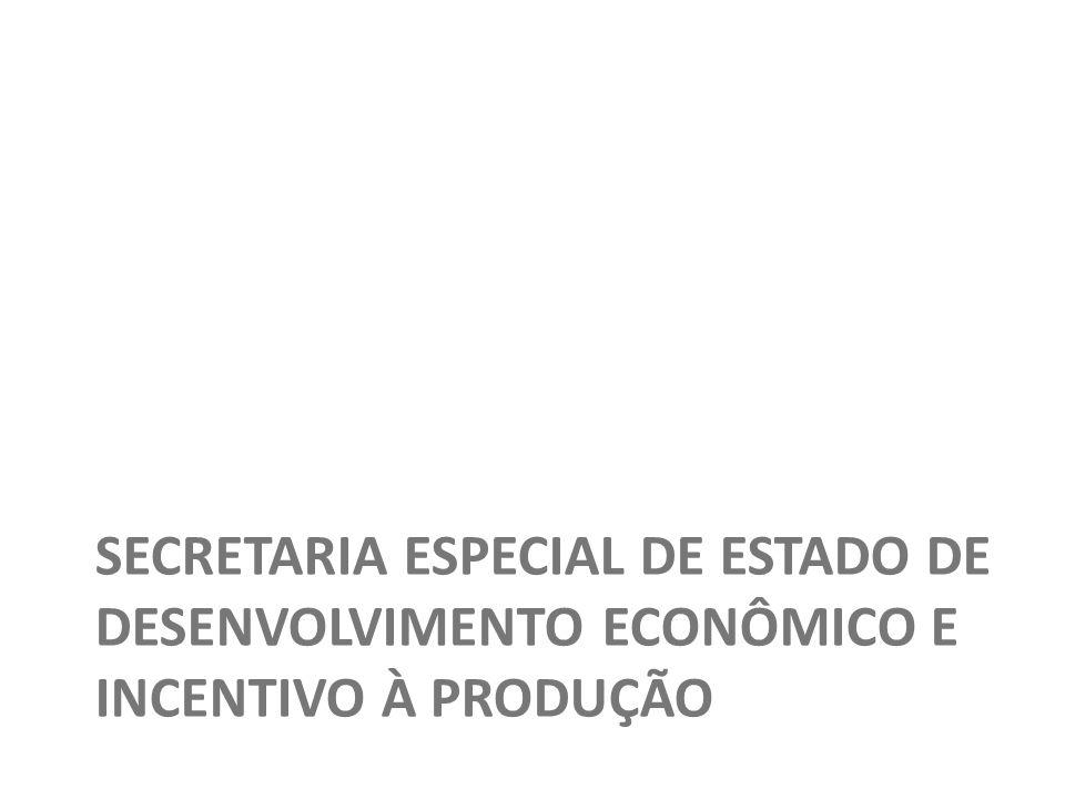 SECRETARIA ESPECIAL DE ESTADO DE DESENVOLVIMENTO ECONÔMICO E INCENTIVO À PRODUÇÃO