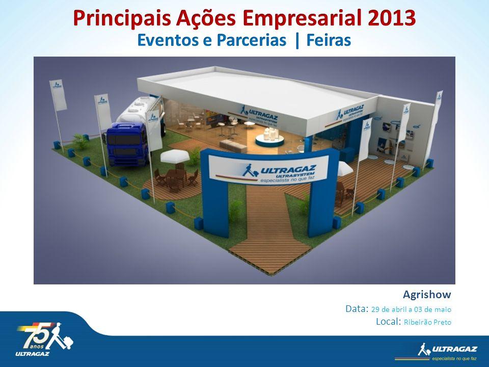 Principais Ações Empresarial 2013 Eventos e Parcerias | Feiras
