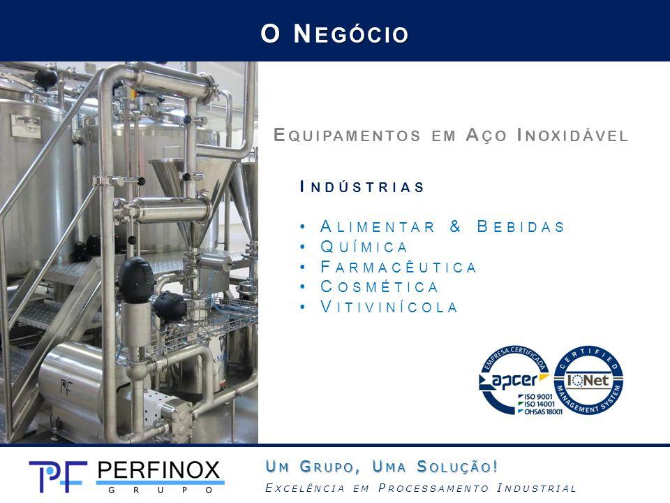 O Negócio Equipamentos em Aço Inoxidável Indústrias