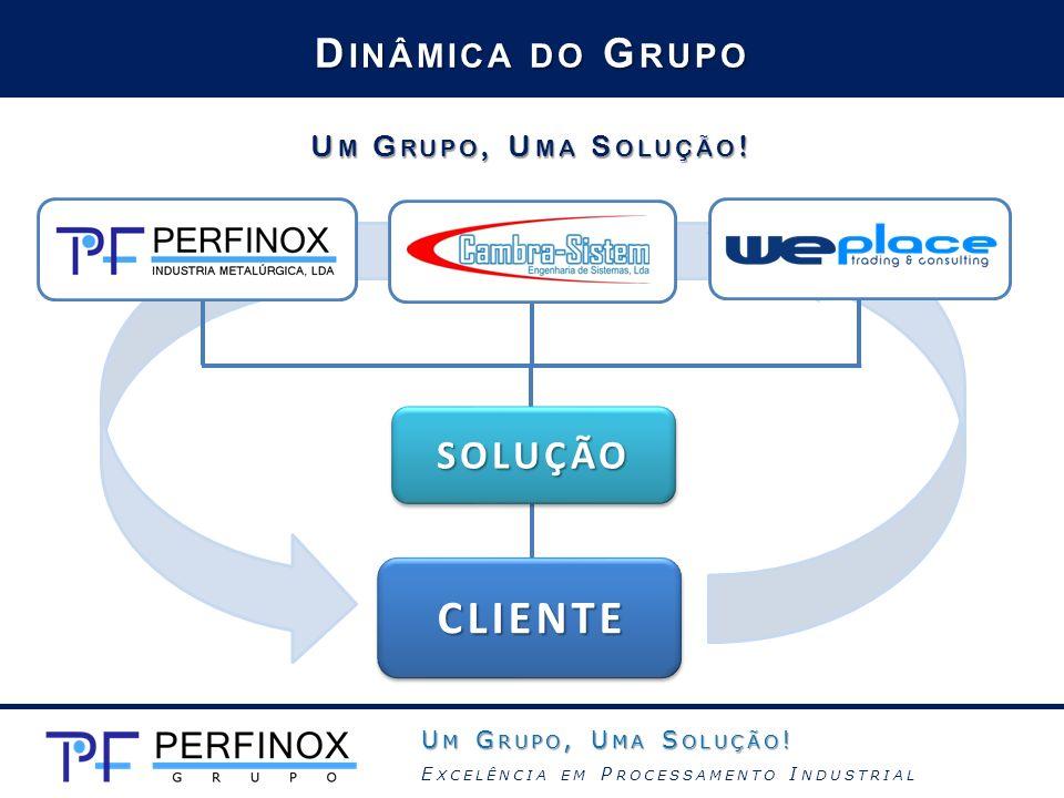 CLIENTE Dinâmica do Grupo SOLUÇÃO Um Grupo, Uma Solução!