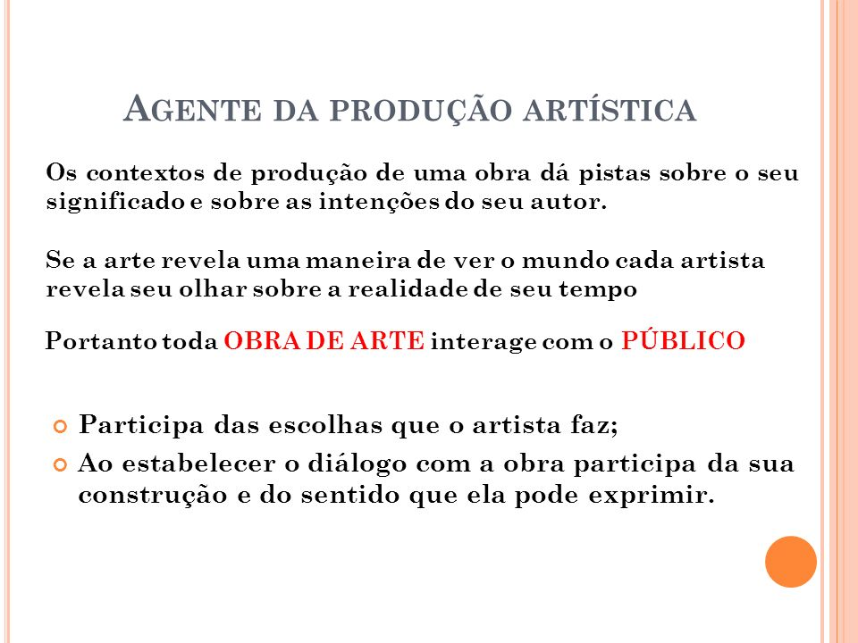 Agente da produção artística