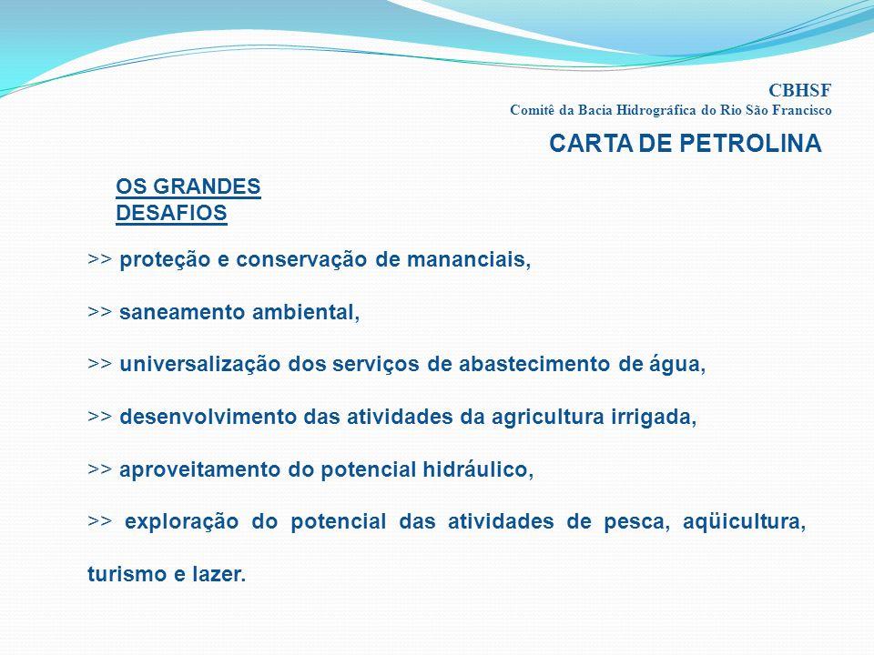 CARTA DE PETROLINA OS GRANDES DESAFIOS
