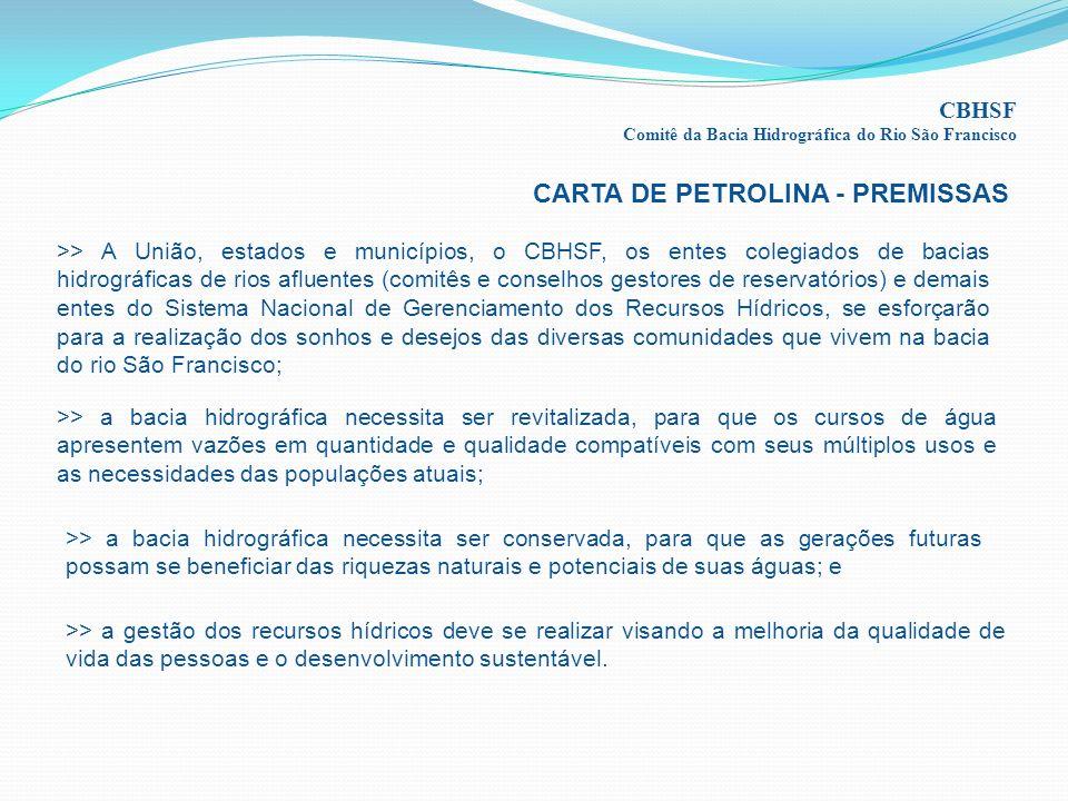 CARTA DE PETROLINA - PREMISSAS