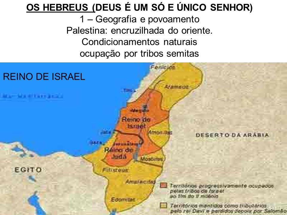 OS HEBREUS (DEUS É UM SÓ E ÚNICO SENHOR) 1 – Geografia e povoamento
