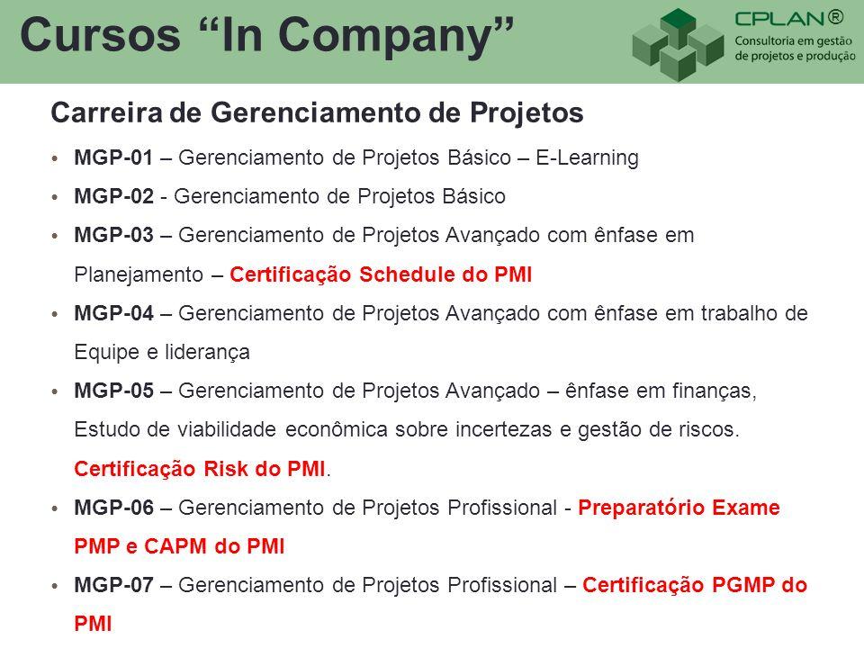 Cursos In Company Carreira de Gerenciamento de Projetos