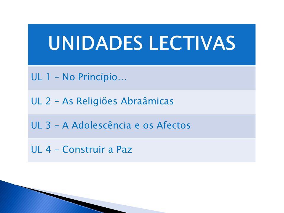 UNIDADES LECTIVAS UL 1 – No Princípio… UL 2 – As Religiões Abraâmicas