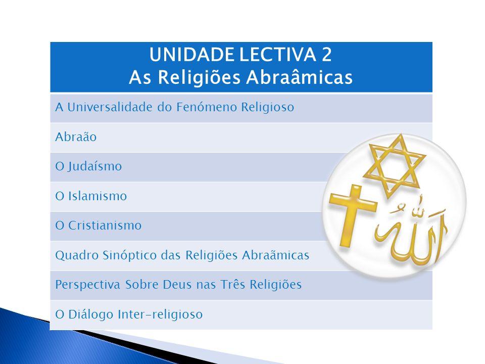 As Religiões Abraâmicas