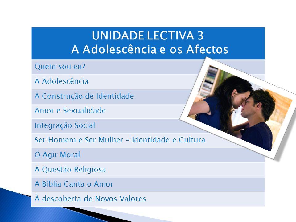 A Adolescência e os Afectos