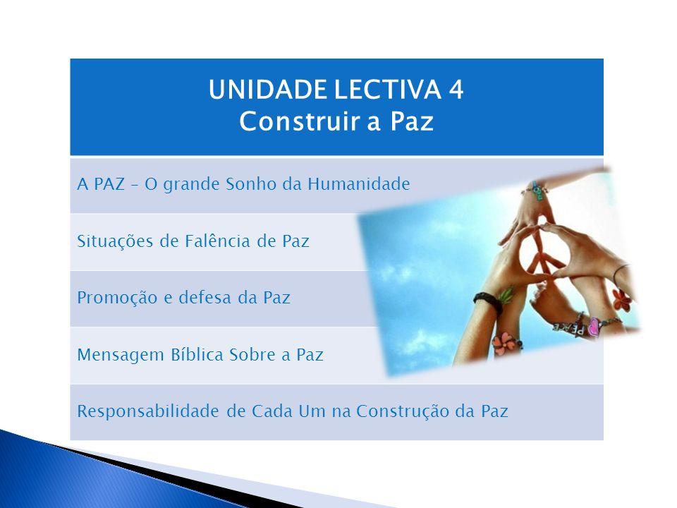 UNIDADE LECTIVA 4 Construir a Paz