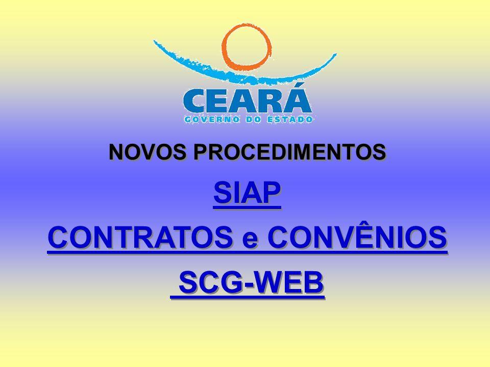 SIAP CONTRATOS e CONVÊNIOS SCG-WEB