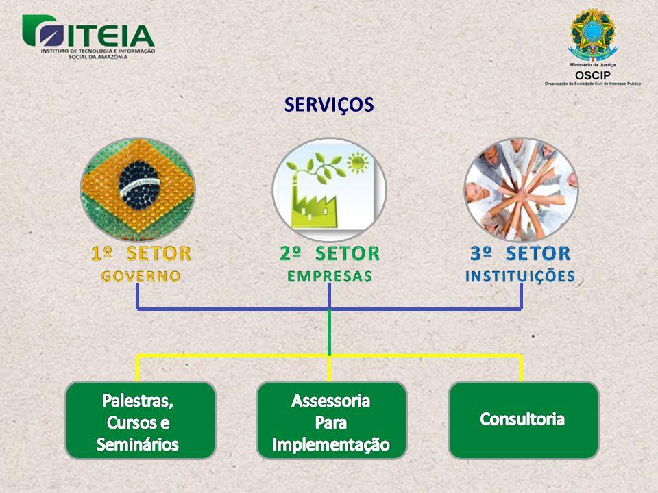 SERVIÇOS 1º SETOR 2º SETOR 3º SETOR
