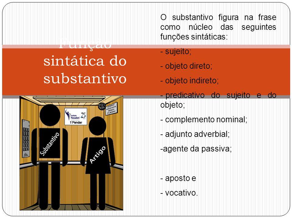 Função sintática do substantivo
