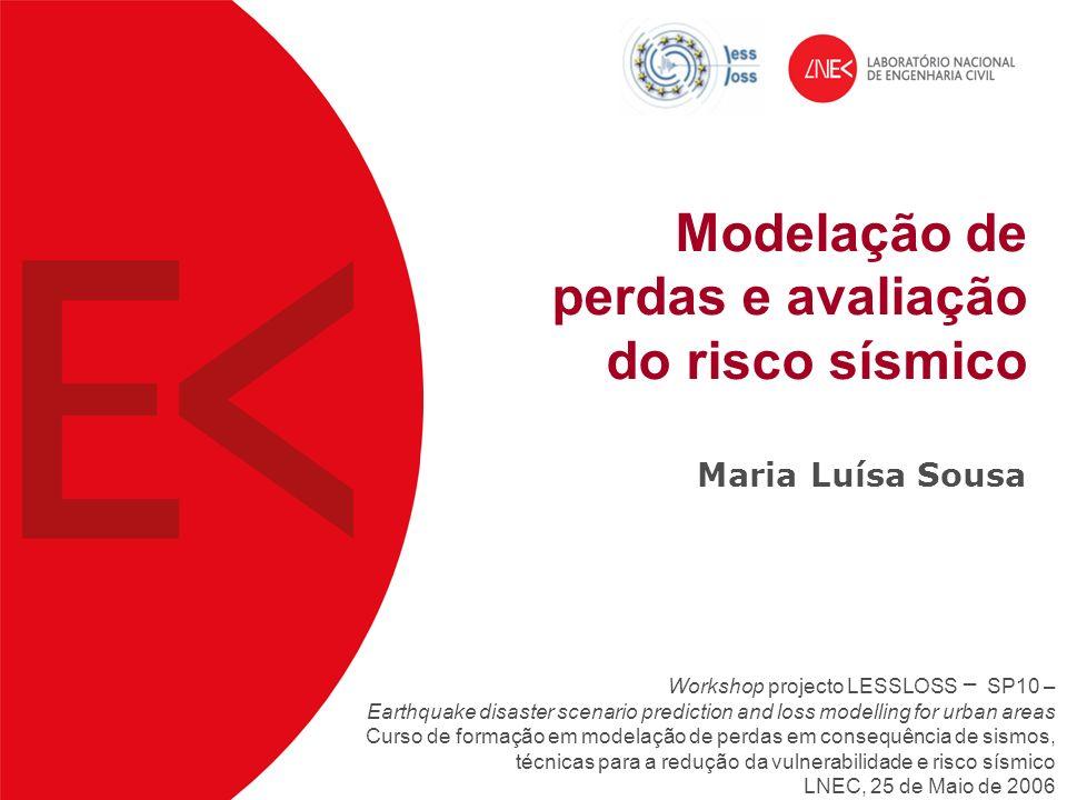 Modelação de perdas e avaliação do risco sísmico