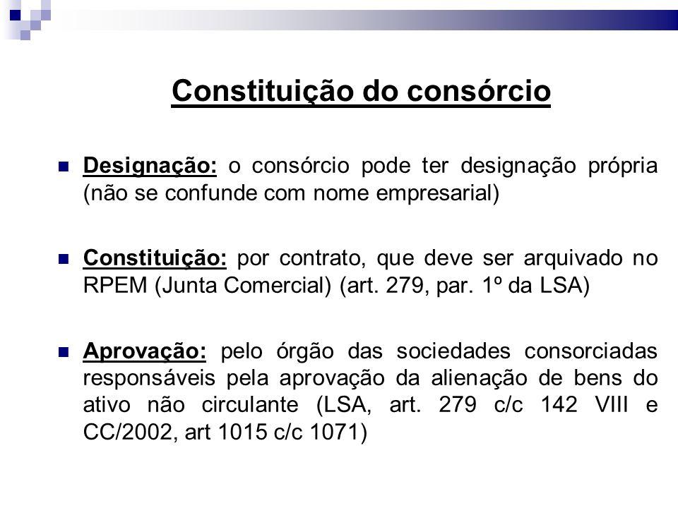 Constituição do consórcio