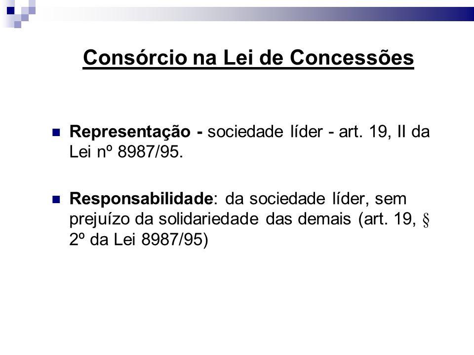 Consórcio na Lei de Concessões