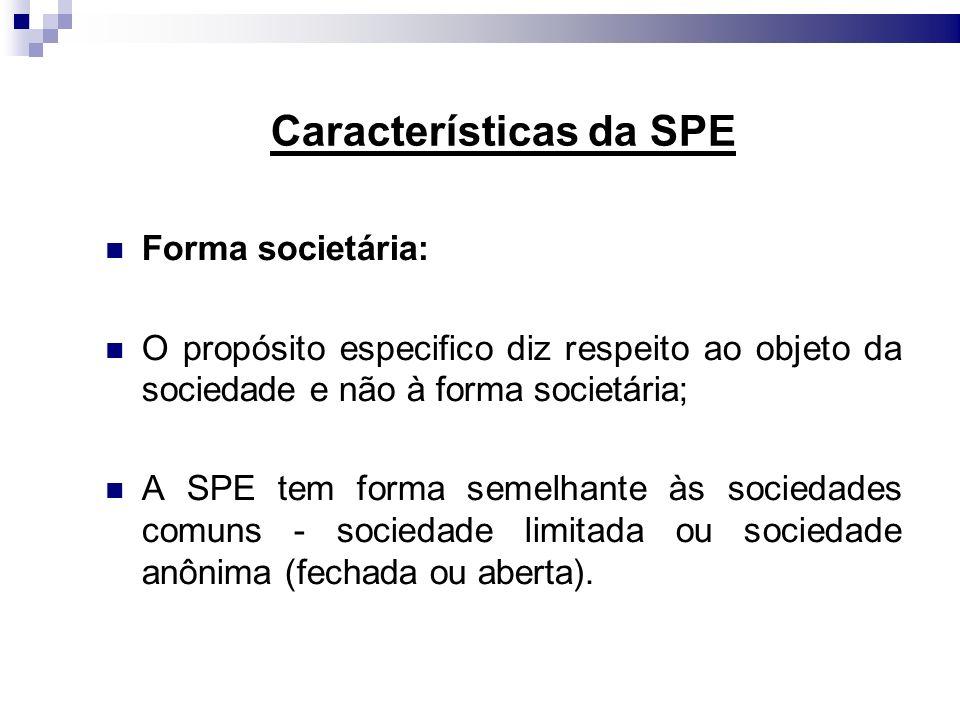 Características da SPE