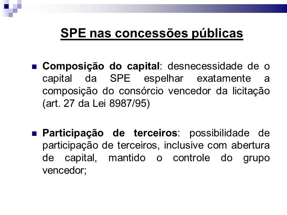 SPE nas concessões públicas