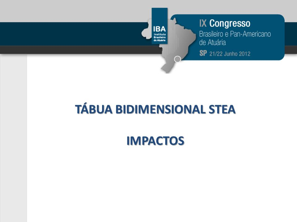 TÁBUA BIDIMENSIONAL STEA