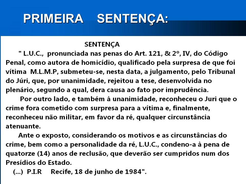 PRIMEIRA SENTENÇA: