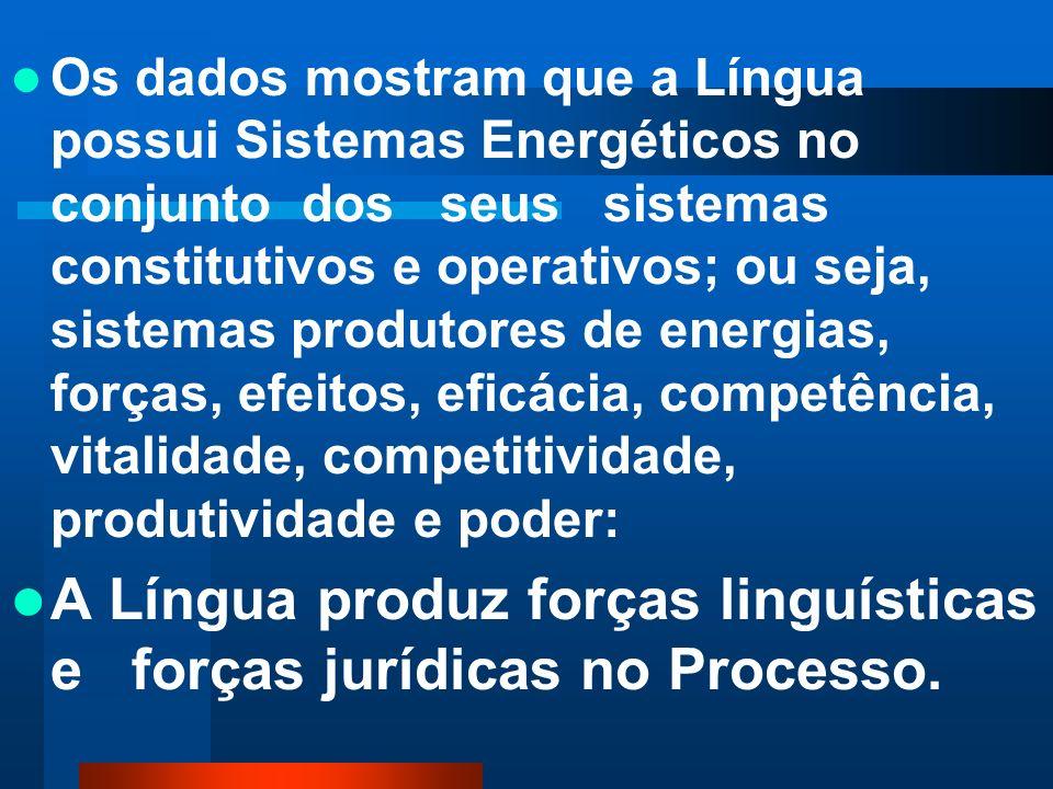 A Língua produz forças linguísticas e forças jurídicas no Processo.