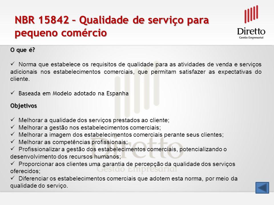 NBR 15842 – Qualidade de serviço para pequeno comércio