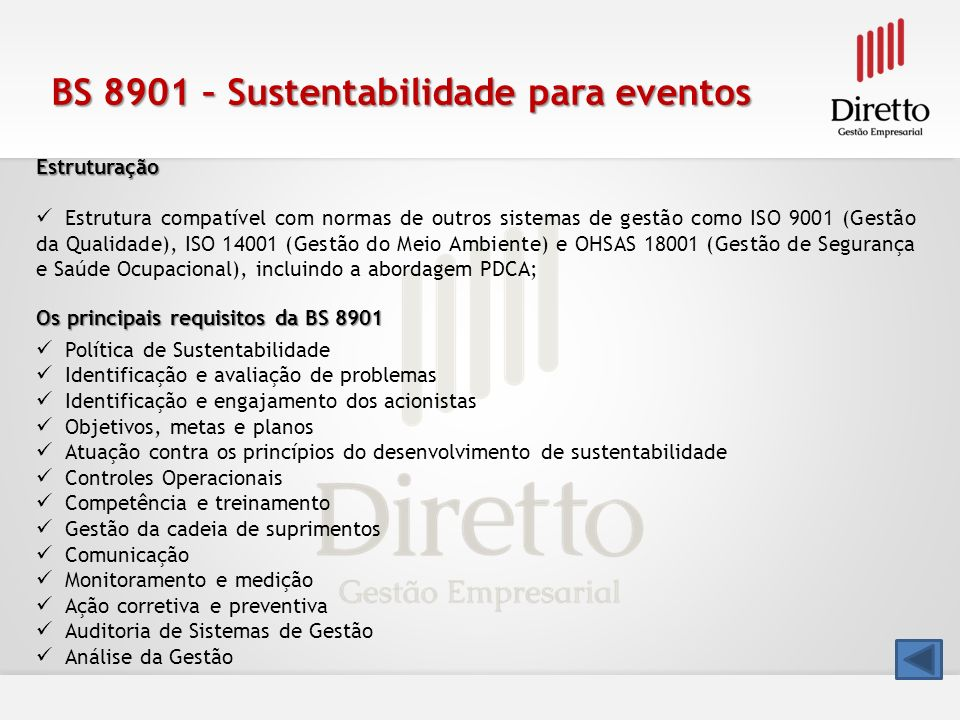 BS 8901 – Sustentabilidade para eventos