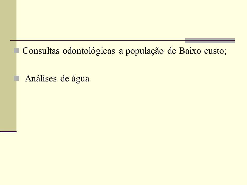 Consultas odontológicas a população de Baixo custo;